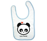 Love Panda Boy Head Baby Bib