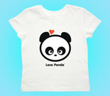 Love Panda Boy Head Toddler's Jersey T-Shirt