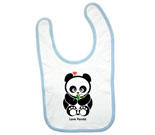 Love Panda Boy with Bamboo Baby Bib