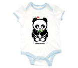 Love Panda Boy with Bamboo Baby Rib 2 Tone One Piece‏