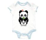 Love Panda Boy with Bamboo Baby Rib 2 Tone One Piece