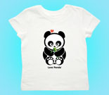 Love Panda Boy with Bamboo Toddler's Jersey T-Shirt‏