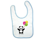 Love Panda Boy with Balloons Baby Bib‏