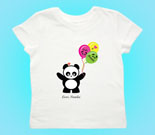 Love Panda Boy with Panda Face Balloons Toddler's Jersey T-Shirt