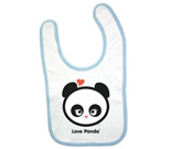 Love Panda Girl Head Baby Bib