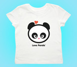 Love Panda Girl Head Toddler's Jersey T-Shirt