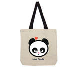 Love Panda Girl Putty Mouth Cotton Canvas contrasting handles ba