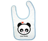 Love Panda Girl Putty Mouth Baby Bib