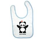 Love Panda Girl Standing Baby Bib