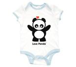 Love Panda Girl Standing Baby Rib 2 Tone One Piece