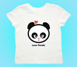 Love Panda Girl Putty Mouth Toddler's Jersey T-Shirt
