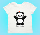Love Panda Girl Standing Toddler's Jersey T-Shirt