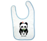 Love Panda Girl with Bamboo Baby Bib