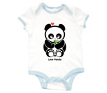 Love Panda Girl with Bamboo Baby Rib 2 Tone One Piece