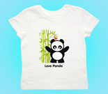 Love Panda Girl Standing with Bamboo Tree Toddler's Jersey T-Shi