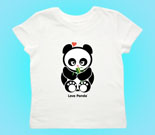 Love Panda Girl with Bamboo Toddler's Jersey T-Shirt