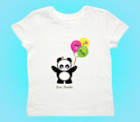 Love Panda Girl with Balloons Toddler's Jersey T-Shirt‏