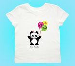 Love Panda Girl with Panda Face Balloons Toddler's Jersey T-Shir