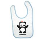Love Panda Standing Baby Bib