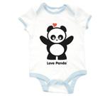 Love Panda Standing Baby Rib 2 Tone One Piece