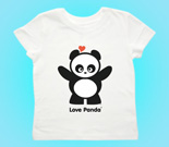 Love Panda Standing Toddler's Jersey T-Shirt