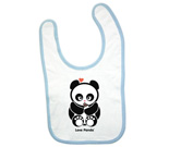 Love Panda with bottle Baby Bib