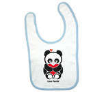 Love Panda with heart Baby Bib