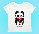 Love Panda with heart Toddler's Jersey T-Shirt