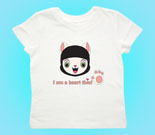 Ninja Meow Head Toddler's Jersey T-Shirt