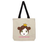 Princess Cherry Cotton Canvas with contrasting handles bag
