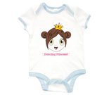 Princess Cherry Baby Rib 2 Tone One Piece‏