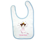 Princess Cherry Dark Hair Baby Bib