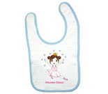 Princess Cherry Light Hair Baby Bib