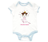 Princess Cherry Dark Hair Baby Rib 2 Tone One Piece‏