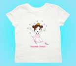 Princess Cherry Dark Hair Toddler's Jersey T-Shirt‏