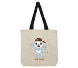 Top Dog Brown Hat Cotton Canvas with contrasting handles bag