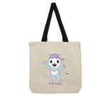 Top Dog Purple Hat Cotton Canvas with contrasting handles bag