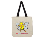 Youbee Bee American Cotton Canvas with contrasting handles bag