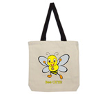 Youbee Bee Cute Cotton Canvas with contrasting handles bag